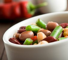 Red, White, and Green Bean Salad