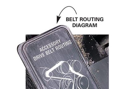 6. Follow the belt routing diagram