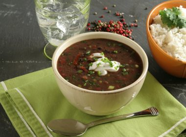 Black Bean Soup With Green Pepper