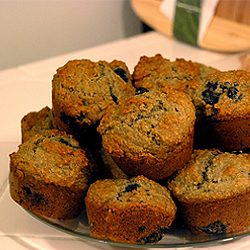 Low-Fat Bran Blueberry Muffin