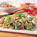Bok Choy with Pan-Fried Tofu and Peanuts