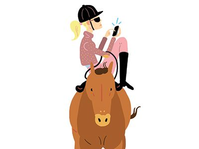Born to Ride: An Open Letter to the Superbored Teen Texting From Her Horse