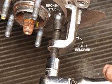 Pull the Broken Wheel Stud