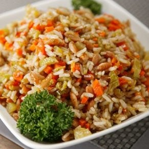 Brown Rice Pilaf With Toasted Flaxseeds