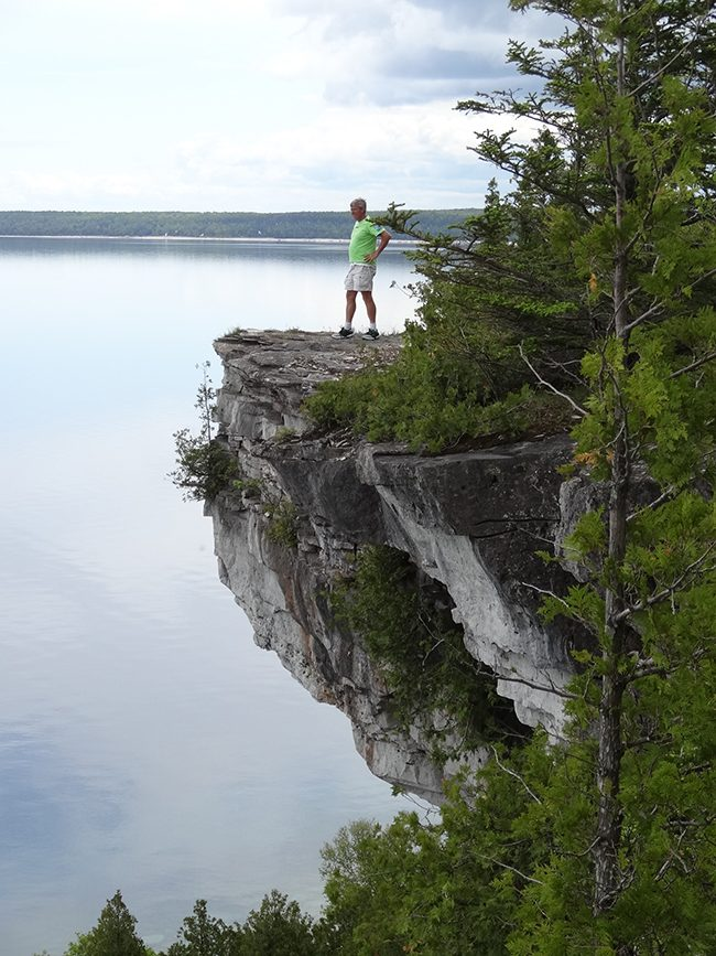 Towering cliffs overlooking Georgian Bay