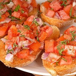 Sardine and Tomato Bruschetta