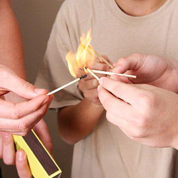 Burns From Lighters and Matches