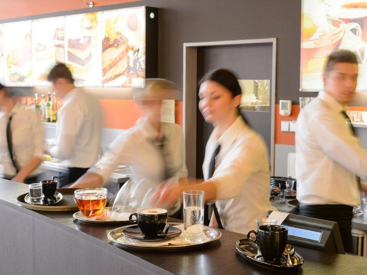 9. Choose a bustling restaurant.