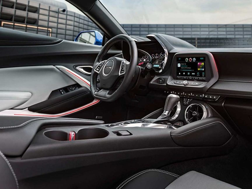 3. The interior of the new Chevrolet Camaro convertible is quieter than you'd expect.