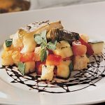 Salad With Camembert-Stuffed Vine Leaves