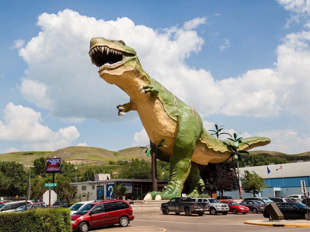 Dinosaur statue in Drumheller, Alberta