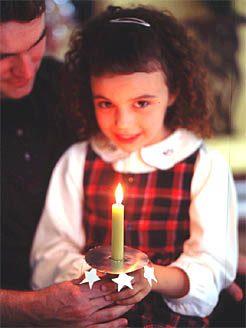 Caroling Candle Holders