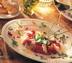 Beef Carpaccio with Fresh Herbs and Parmesan