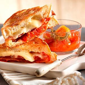 Cherry Bomb Grilled Cheese Sandwich