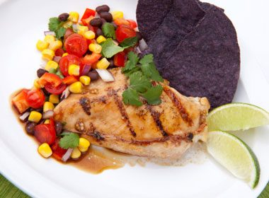 Grilled Chicken Breast With Corn & Pepper Relish