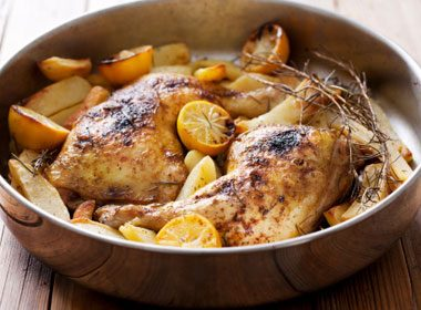 Lemon Dill Drumsticks and Potatoes