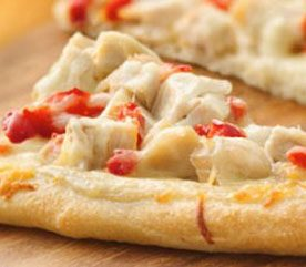 3. Chicken Alfredo Pizza