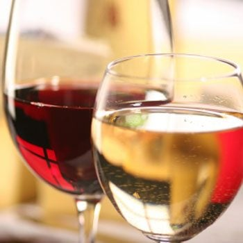 3. Sip a glass of wine every evening with dinner