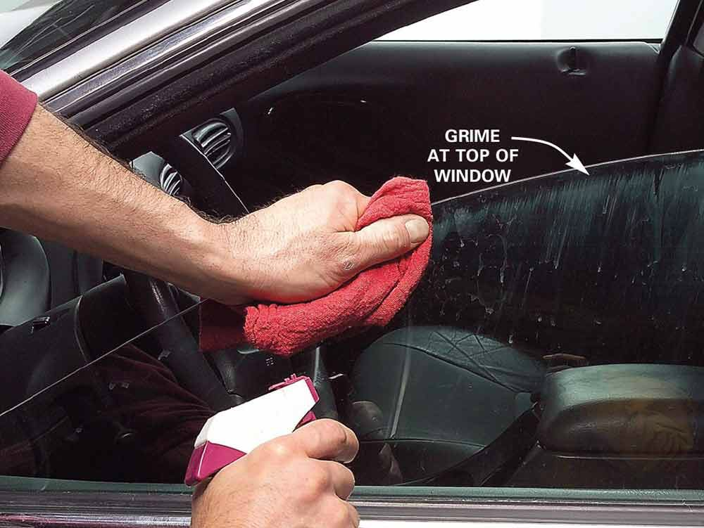 11. Wash windows, including top edges