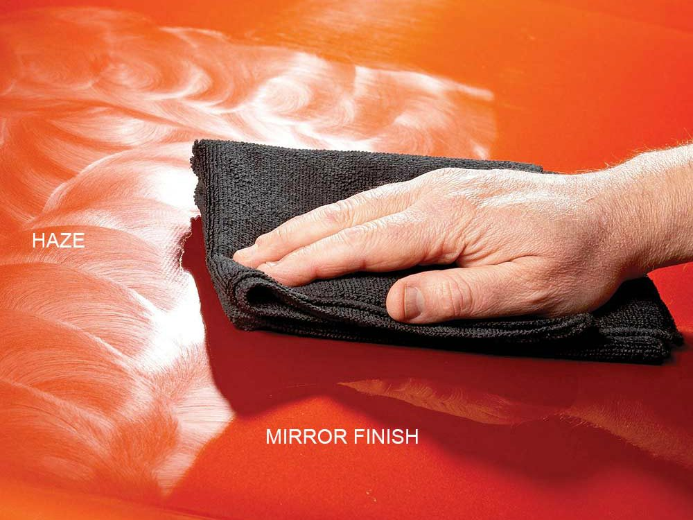 4. Get a mirror finish with synthetic wax