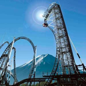 3. Ride the World's Steepest Roller Coaster in Japan