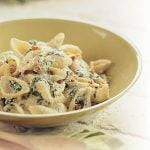 Conchiglie with Spinach and Walnuts