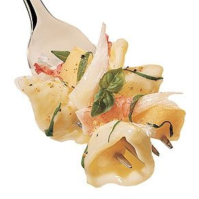 Conchiglie with Crab and Melon