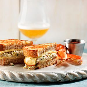 Crabby Dipper Grilled Cheese Sandwich