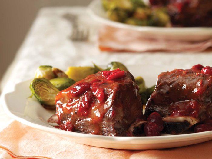 Cranberry short ribs
