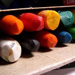 Fun uses of crayons: Make New Crayons