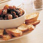 Crostini with Sausage and Grapes
