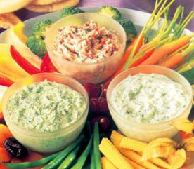 Crudités with Three Dips