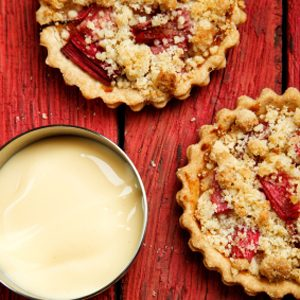 1. Quick Rhubarb Biscuit Crumble