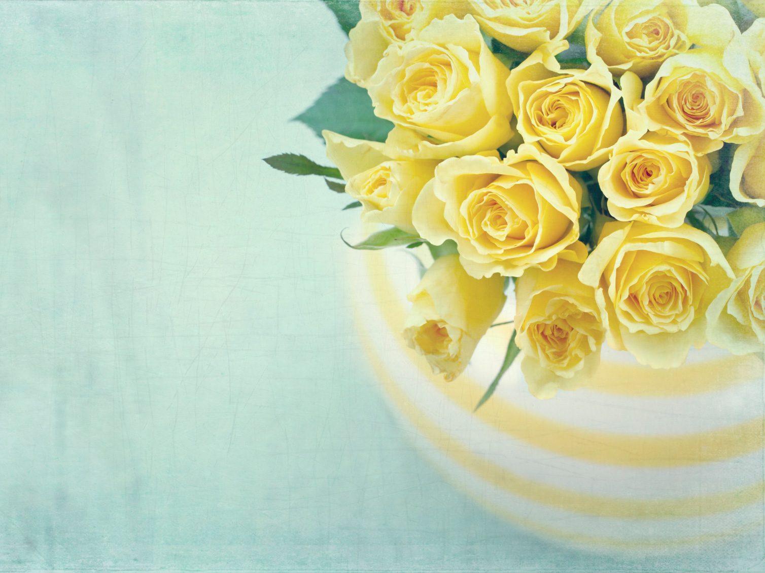 Vase of fresh flowers