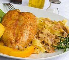 Chicken Breasts With Peaches and Ginger