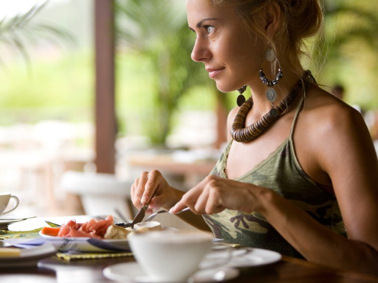 1. Don't be afraid to dine alone.