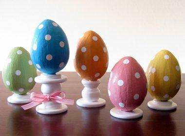 Polka-Dot Easter Egg Decorations