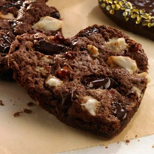 Double Chocolate Cherry Cookies with Pink Peppercorns
