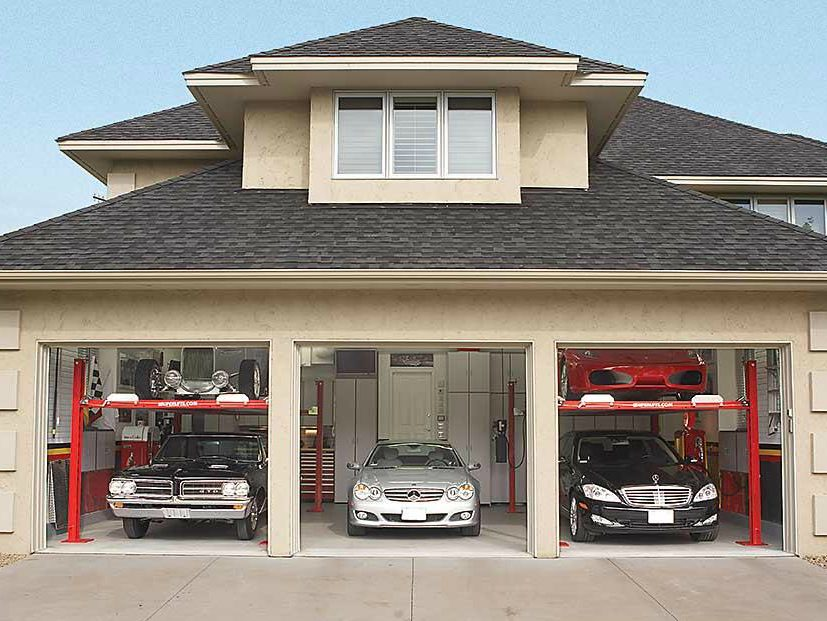 dream garage tour two tier car storage 2 7 reader 39 s. Black Bedroom Furniture Sets. Home Design Ideas