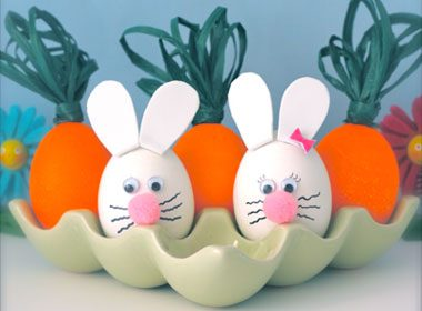 Easter Bunny and Carrot Eggs