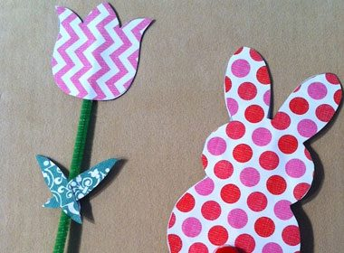 Easter Bunny and Tulip Puppets