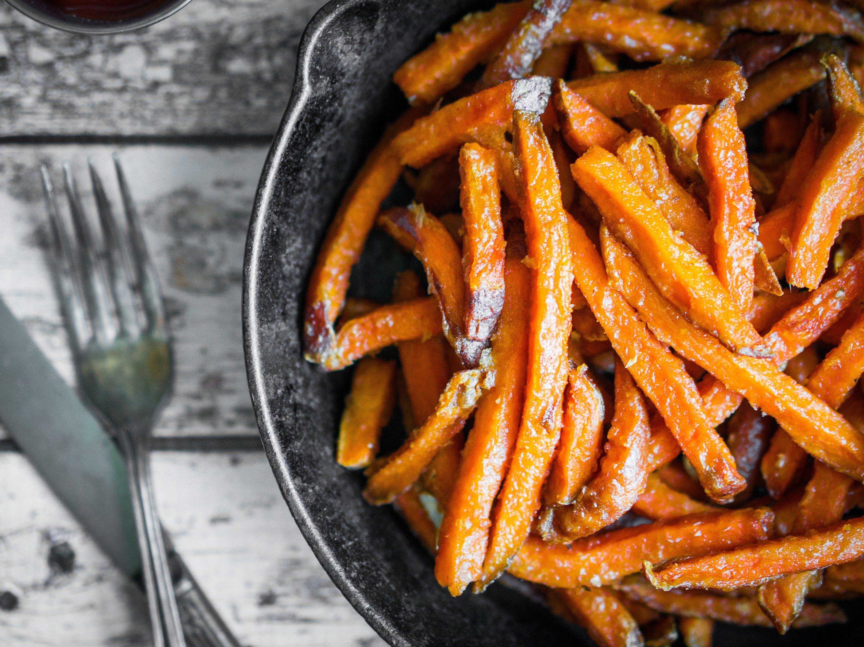Egg whites for crispy fries