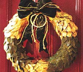 1. Empire-Style Door Wreath