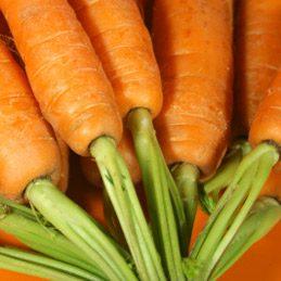 Asparagus, green beans, carrots
