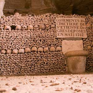 2. Paris Catacombs, France
