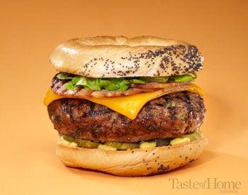 Taste of Home Canada: Great Canadian Bagel Burger