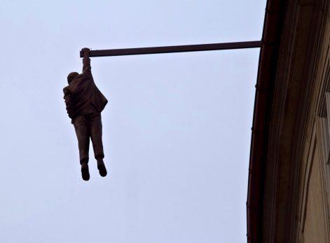 Hanging Statue
