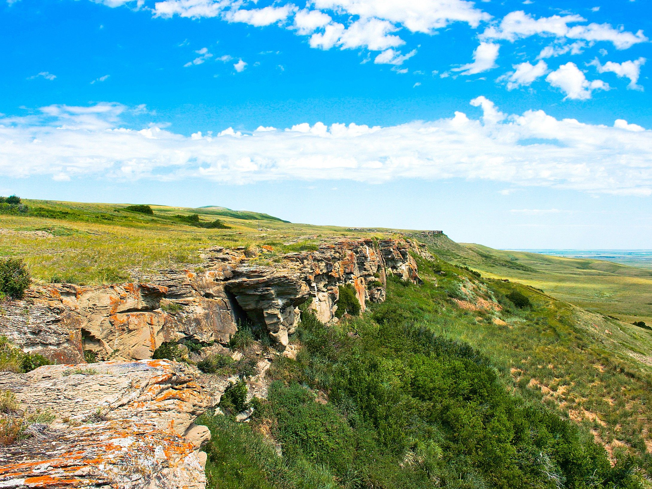 Head-Smashed-In Buffalo Jump, Alberta.