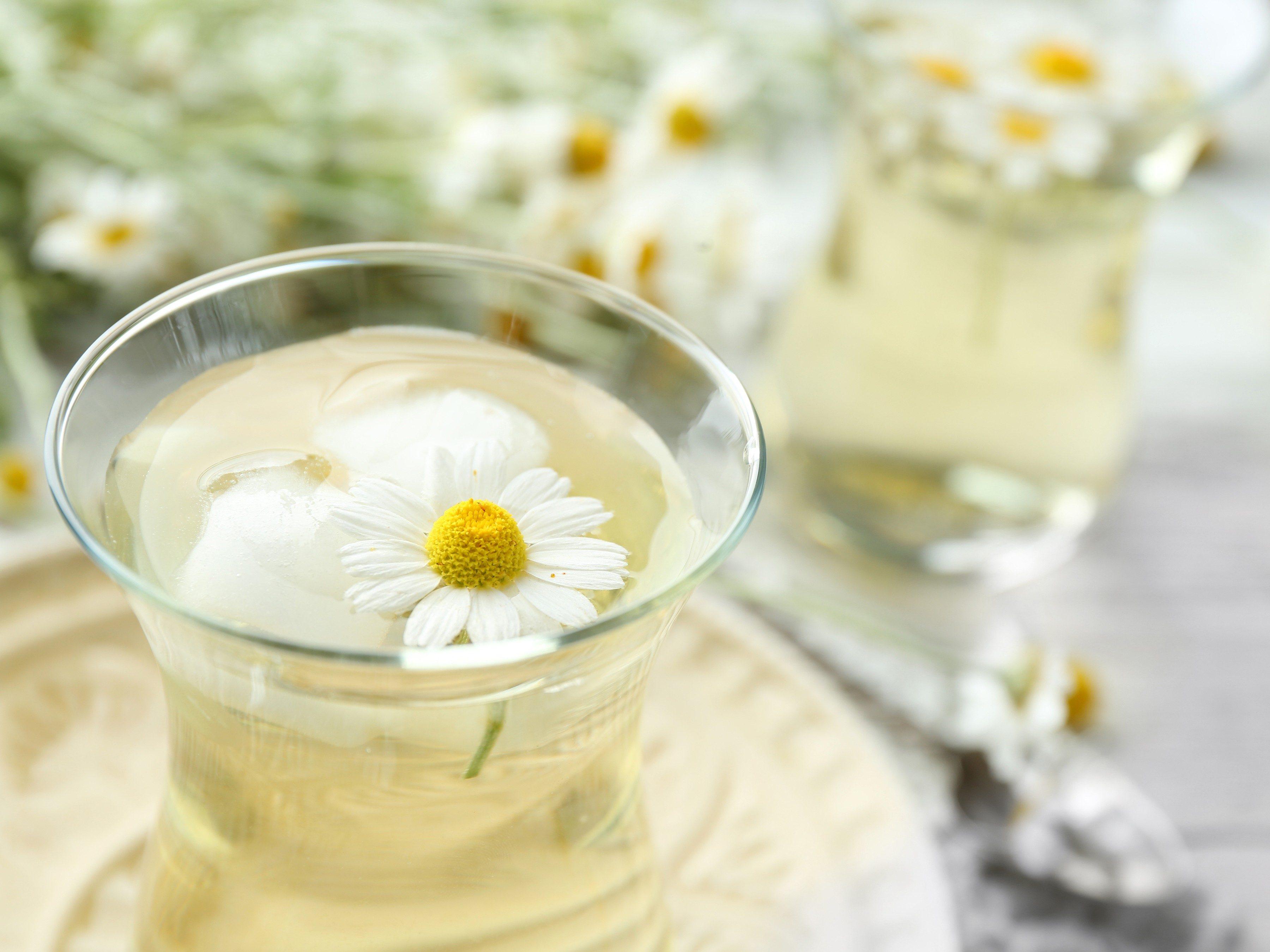 4. Warm chamomile tea