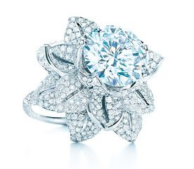 2. Tiffany Diamond Flower Ring